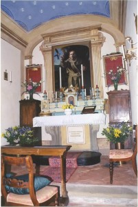 Inside Chapel within Villa Zingale