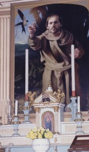 Painting of St. Francis in Chapel inside Villa Zingale