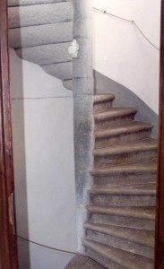 Smaller of two Stairs going to Upper Level